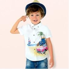 Рубашка с коротким рукавом для мальчика.