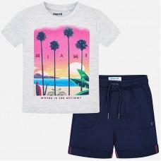 Комплект из шорт и футболки для мальчика.