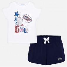 Комплект из  футболки и спортивных шорт для девочек