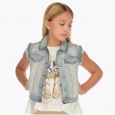 Безрукавка джинсовая  для девочки.