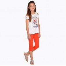 Комплект футболка и леггинсы  для девочки Mayoral