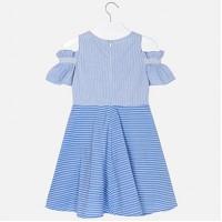 Платье в полоску комбинированное для девочек