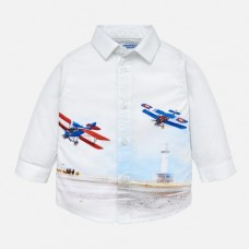Рубашка Mayoral (Майорал) для мальчика молочного оттенка