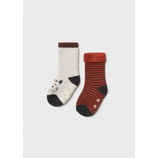 Комплект носков с прорезиненной подошвой  Mayoral (Майорал) цветной оттенок