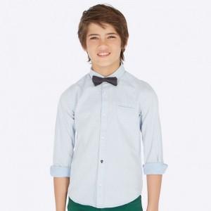 Рубашка на мальчика Mayoral (Майорал) голубого оттенка