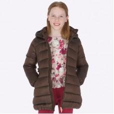 Пальто Mayoral(Майорал) для девочек шоколадного оттенка