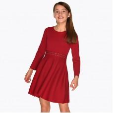Платье на девочку Mayoral (Майорал) красного оттенка