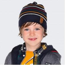 Шапка с шарфом на мальчика Mayoral (Майорал) темно синий оттенок