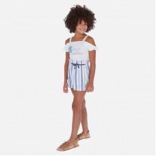 Шорты Mayoral (Майорал) для девочки голубая полоска