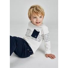 Лонгслив Mayoral (Майорал) для мальчика молочныйоттенок