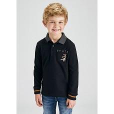 Рубашка-поло на мальчика Mayoral (Майорал) черного оттенок