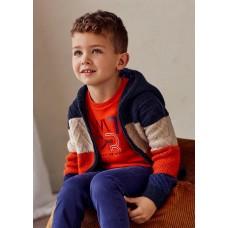 Пуловер с капюшоном на мальчика Mayoral (Майорал) полосатый принт