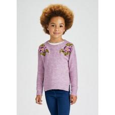 Свитер вязанный на девочку Mayoral (Майорал) светло-лиловый оттенок