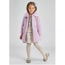 Пальто на девочку Mayoral (Майорал) светло-лиловый оттенок