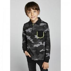 Рубашка-поло на мальчика Mayoral (Майорал) серый оттенок