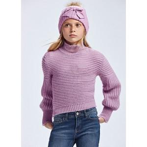 Свитер вязанный на девочку Mayoral (Майорал) светло-лиловый оттенка