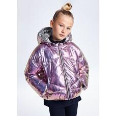 Двусторонняя куртка с эффектом металлик для девочки Mayoral (Майорал)
