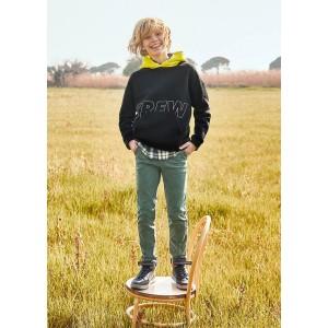 Базовые брюки slim fit для мальчика Mayoral (Майорал) серого оттенка