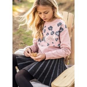 Трикотажная юбка на девочку Mayoral (Майорал) серый оттенок