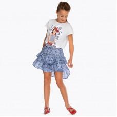 Короткая-ажурная юбка для девочки Mayoral