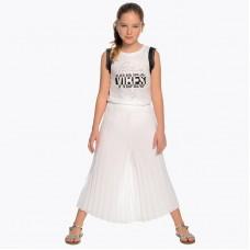 """Плиссированная юбка """"белая"""" для девочек Mayoral"""