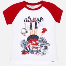 Красная футболка для девочки Mayoral