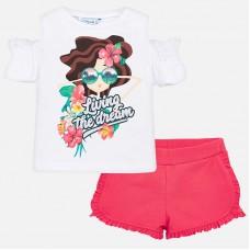 Комплект футболка + шорты для девочки Mayoral