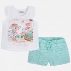 Комплект футболка+ шорты для девочки Mayoral