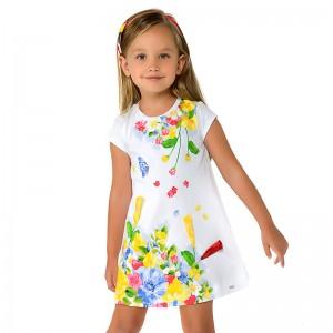 Платье с коротким рукавом для девочки Mayoral.