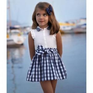 Платье  для девочки с пояском Mayoral