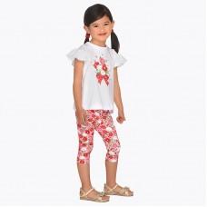 Комплект для девочки из футболки и пиратских брюк типа леггинсы