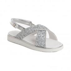 Серебристые сандали для девочки Mayoral 47787