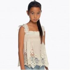 Ажурная блузка для девочки Mayoral