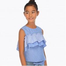 Блузка с открытыми плечами для девочки Mayoral