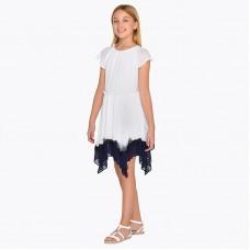 Платье с коротким рукавом для девочки с рюшами Mayoral