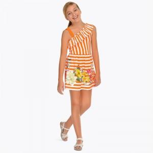 Платье  для девочки  на бретельках Mayoral