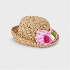 Шляпа с бантом для девочек Mayoral (Майорал) оттенок камелия