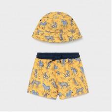 Пляжный комплект ( панама,шорты) Mayoral (Майорал) оттенок манго