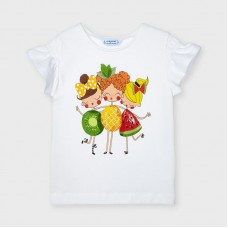 Футболка Mayoral (Майорал) для девочки оттенок молочный