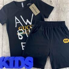 Комплект (футболка,шорты) для мальчика темного оттенка