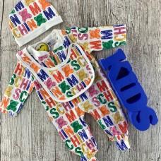 Комплект для новорожденного разноцветный