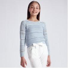 Джемпер ажурный для девочек Mayoral (Майорал) ледяной оттенок