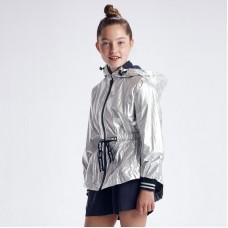 Ветровка металлизированная для девочки Mayoral (Майорал) серебристый оттенок