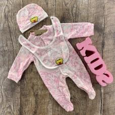 Комплект для новорожденного розового оттенка