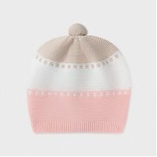 Шапка для девочки Mayoral (Майорал) кремово-розовый оттенок