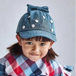 Джинсовая кепка для девочки Mayoral (Майорал) синего оттенка
