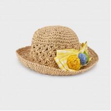Шляпа с бантом  для девочек Mayoral (Майорал) оттенок лимонный