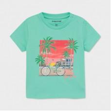 Хлопковая футболка ECOFRIENDS для мальчика аква оттенок