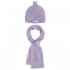 Шапка с шарфом на девочку Mayoral (Майорал) сиреневый оттенок
