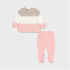 Комплект для девочки Mayoral (Майорал) кремово-розовый оттенок